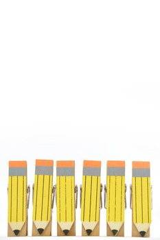 Stock Photos - Clothespin Pencils - Stock Images