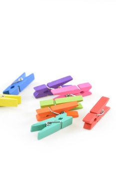 Stock Photos - Colorful Clothespins - Stock Images