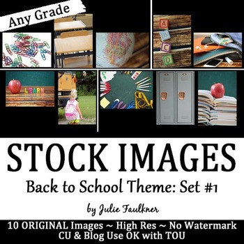 Stock Photos, Images {Back to School Theme, Set #1}, CU OK