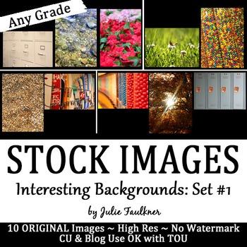 Stock Photos, Images {Interesting Backgrounds, Set #1}, CU OK with TOU