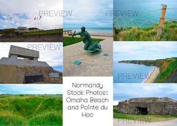 Stock Photos- Normandy Beach WWII- Commercial and Personal Use