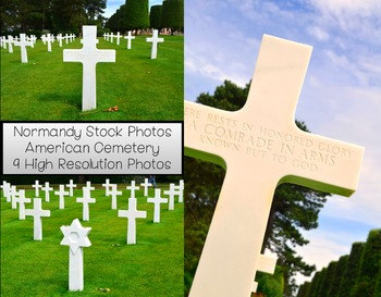 Stock Photos- Normandy WWII American Cemetery- Commercial and Personal Use