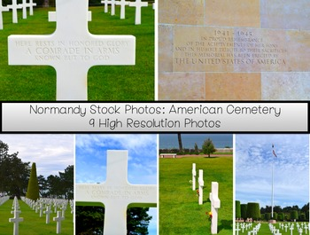 Stock Photos- Normandy WWII American Cemetery- Commercial