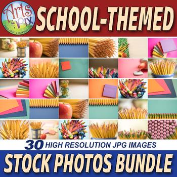 "Stock Photos - ""School-Themed"" - Social Media & Blog Stock Photos - BUNDLE"