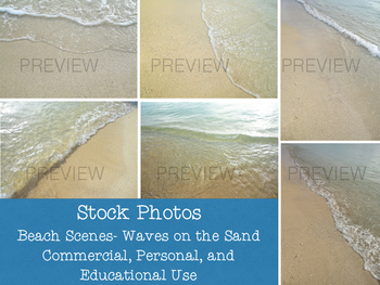 Stock Photos: Water on the Sand- Beach Scenes (Commercial and Personal Use)