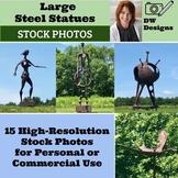 15 Bundle Stock Photos of Large Steel Sculptures