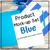 Mock-ups with Blue Supplies