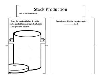 Culinary -Stock Pot Handout