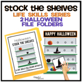 Stock the Shelves: Life Skills File Folder Special Education