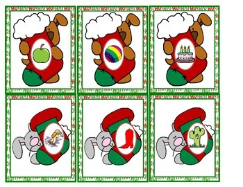 Stocking Critters Sounds Christmas Literacy Center Beginning Sounds