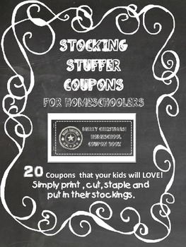 Stocking Stuffer Coupon Book for homeschoolers
