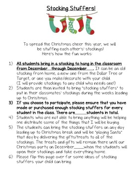 Stocking Stuffer Gift Exchange Christmas Party Idea By A Garden Of Learners