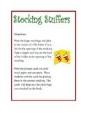 Stocking Stuffers Blends Folder activity game