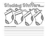 Stocking Stuffers Christmas Writing Prompt Kindergarten and First Grade