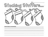Stocking Stuffers Christmas Writing Prompt Kindergarten an