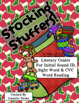 Stocking Stuffers!  Editable Center For Initial Sounds & S