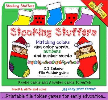 Stocking Stuffers File Folder Game Download