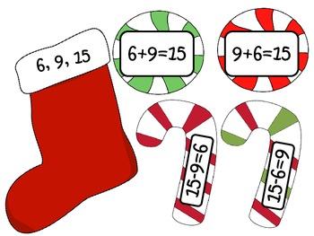 Stocking Stuffers: Math Fact Family Matching Activity