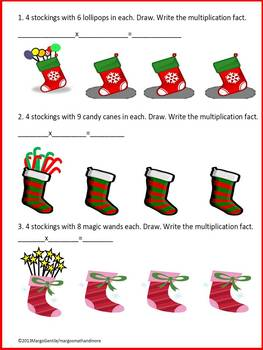 Read Draw Write Stocking Stuffers Multiplication Concept Worksheet Sneak Peek