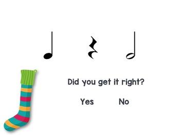Stocking Stuffers {half note rhythm game}