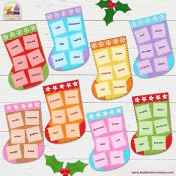 STOCKING SURPRISE - Toys Word Match Game!