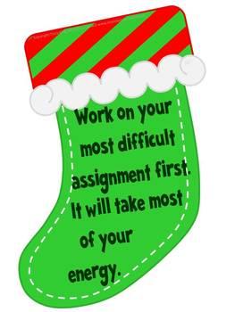 Stocking Up on Study Skills: Christmas Bulletin Board Kit