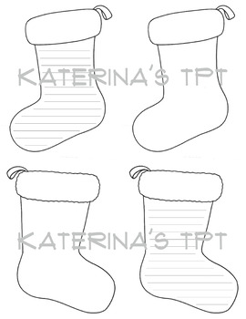 Stocking Writing/Decorating Template