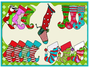 Stocking and Fireplace clip art
