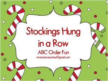 Stockings Hung in a Row ABC Order Fun