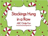 Stockings Hung in a Row ABC Order Fun
