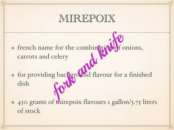 Stocks - the flavourings