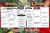 Stocks, Sauces and Soups (Chapter 14) Notes PLUS Answers for Intro to Culinary