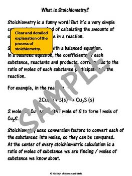 Stoichiometry - High School Science