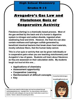 Stoichiometry Assessment: Avogadro's Gas Law and Flatulence