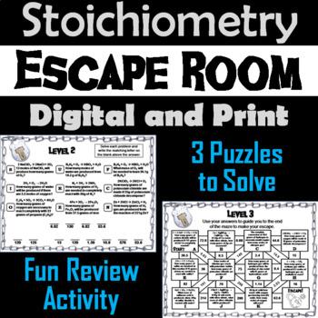 Stoichiometry: Chemistry Escape Room - Science