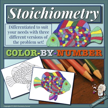 Stoichiometry Color-by-Number by Chemistry Corner | TpT