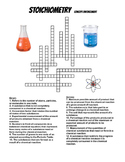 Stoichiometry Crossword Puzzle + Mole Ratios Worksheet (2