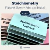 Stoichiometry Flipbook w/editable PPT and G.Slides   Dista