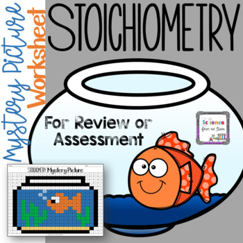 Stoichiometry Hidden Mystery Picture Worksheet for Review or Assessment