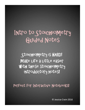 Stoichiometry: Introductory Interactive Notes