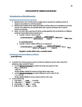 Stoichiometry Lecture Bundle