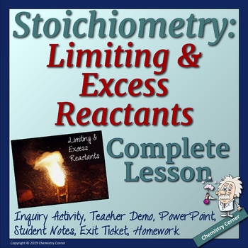 Stoichiometry: Limiting & Excess Reactants by Chemistry ...