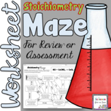 Stoichiometry Maze Worksheet for Review or Assessment