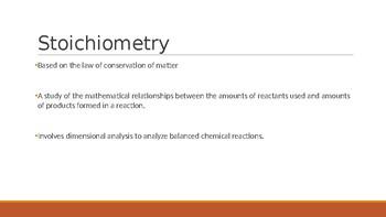 Stoichiometry PowerPoint