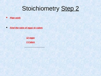 Stoichiometry PowerPoint Notes