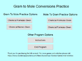 Stoichiometry Practice - Compound Conversions Gram to Mole
