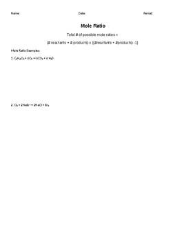 Stoichiometry Practice Packet