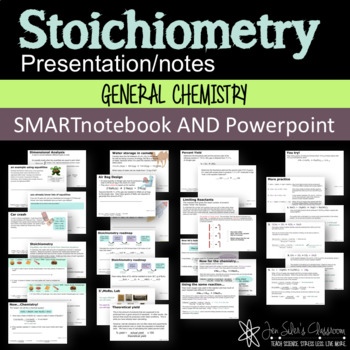 Stoichiometry SMARTnotebook and Powerpoint Presentations