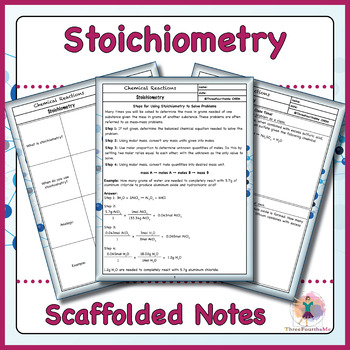 Stoichiometry Scaffolded Notes