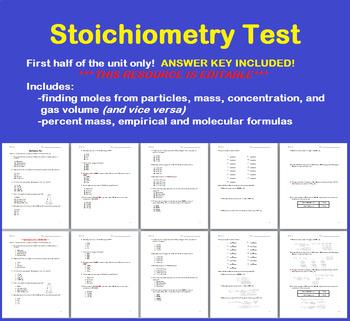 Stoichiometry Test